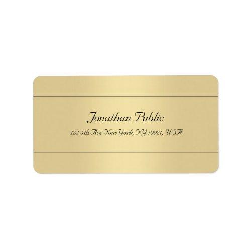 Trendy Simple Template Gold Look Elegant Address Label