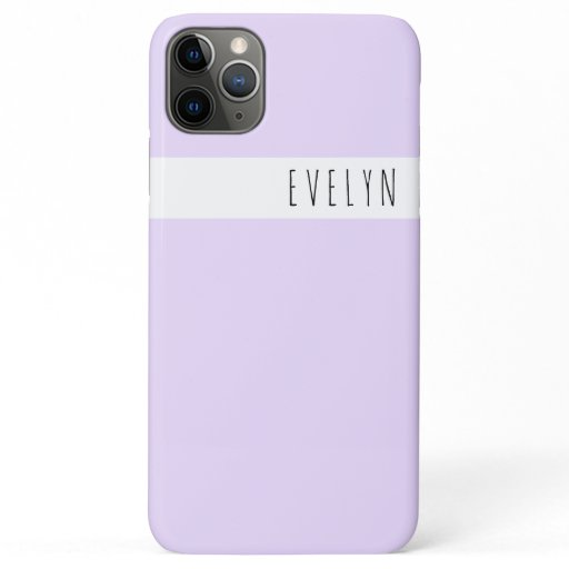 Trendy Skinny Font Name | Lavender Lilac iPhone 11 Pro Max Case
