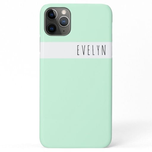 Trendy Skinny Font Name | Mint Green iPhone 11 Pro Max Case
