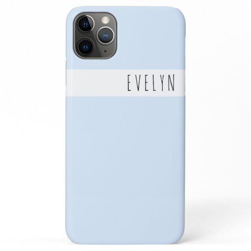 Trendy Skinny Font Name | Powder Blue iPhone 11 Pro Max Case