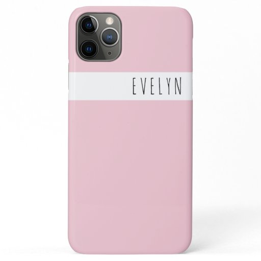 Trendy Skinny Font Name | Pretty Pink iPhone 11 Pro Max Case