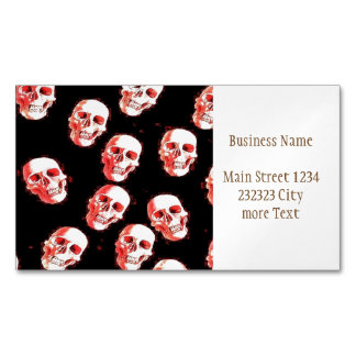 Trendy Skulls Magnetic Business Card
