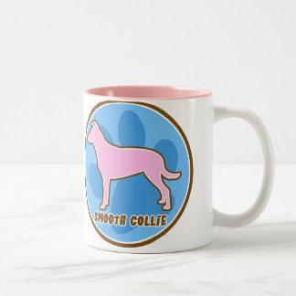 Trendy Smooth Collie Two-Tone Coffee Mug
