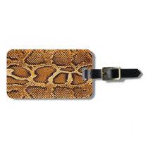 Trendy Snake Skin Bag Tag