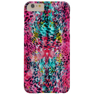 trendy snake skin leopard animal print blend neon barely there iPhone 6 plus case