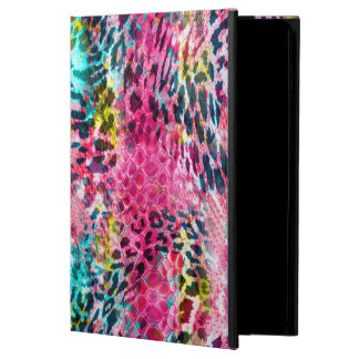 trendy snake skin leopard animal print blend neon cover for iPad air
