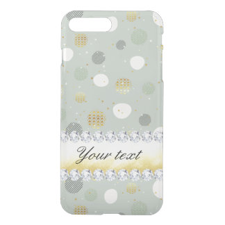 Trendy Snow Polka Dots Stars Diamonds iPhone 8 Plus/7 Plus Case