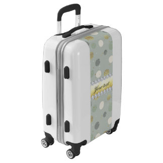 Trendy Snow Polka Dots Stars Diamonds Luggage