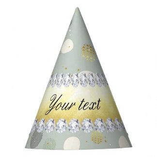 Trendy Snow Polka Dots Stars Diamonds Party Hat