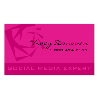 "Trendy Social Media Expert ""Quartz"" | violet Double-Sided Standard Business Cards (Pack Of 100)"