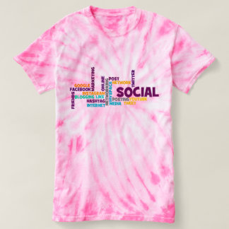 Trendy Social Media Modern Typography Pink Cute T-shirt