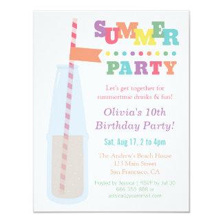 Trendy Soda Summer Birthday Party Invitations