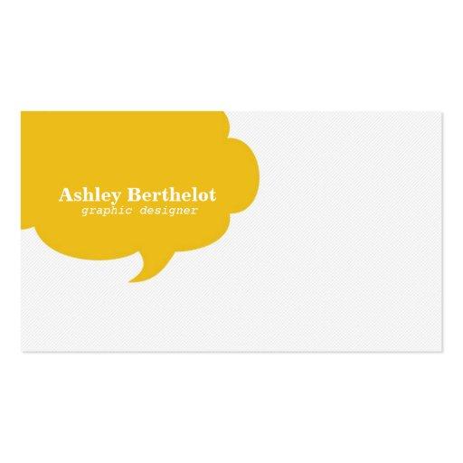 Trendy Speech Bubble Business Cards