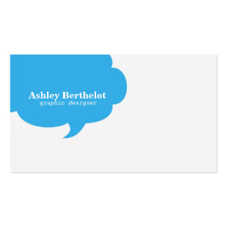 Trendy Speech Bubble Business Card Template