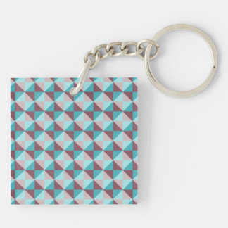 Trendy square and triangle pattern keychain