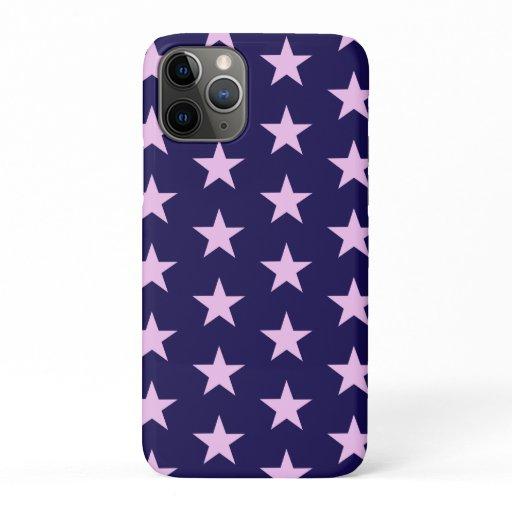 Trendy Star Editable Dark Blue Iphone case