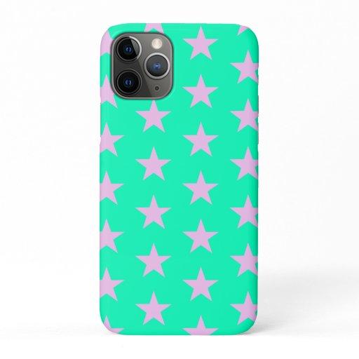 Trendy Star Editable Green iPhone case