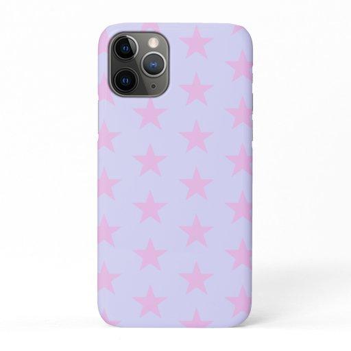 Trendy Star Editable Lavender iPhone case