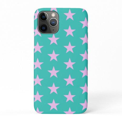 Trendy Star Editable Teal Iphone case