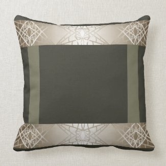 Trendy Steel Grey Contemporary Design Throw Pillow