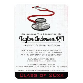 Trendy Stethoscope Medical School Graduation Card