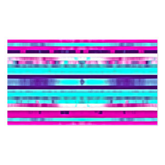 Trendy Stripes Abstract Multicolor Girly Pattern Business Card Templates
