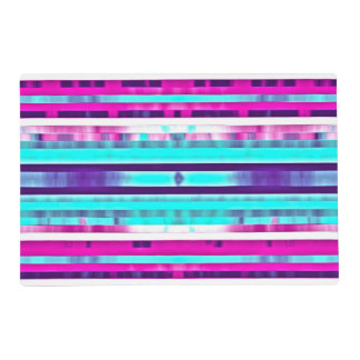 Trendy Stripes Abstract Multicolor Girly Pattern Placemat