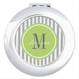 Trendy Stripes Personalized Compact Mirror