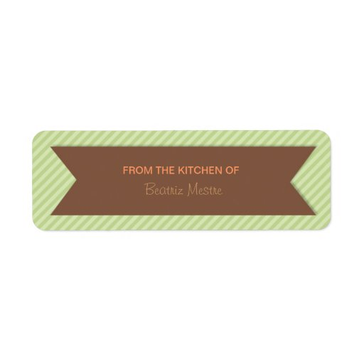 Trendy Stripes Personalized Kitchen Labels