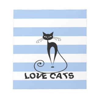 Trendy stripes whimsical funny cat scratch pads