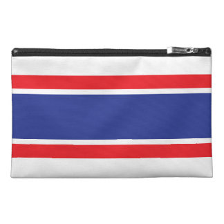 Trendy Strips Travel Accessory Bag- Red White&Blue Travel Accessories Bags