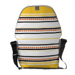"Trendy studded pattern ""racing stripe"" commuter bag"