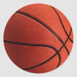 Trendy Style Basketball Classic Round Sticker