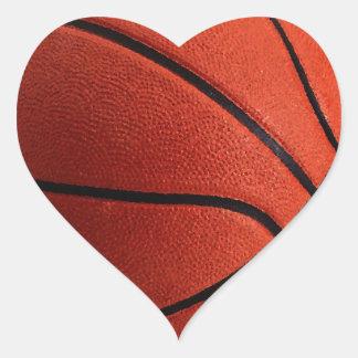 Trendy Style Basketball Heart Sticker