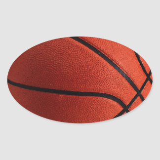 Trendy Style Basketball Oval Sticker
