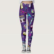 Trendy style from 80s Purple Leggings