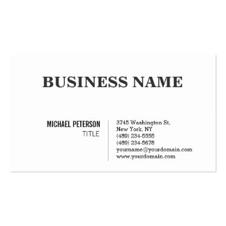 Trendy Stylish Black White Charming Business Card