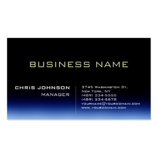 Trendy Stylish Dark Blue Manager Business Card