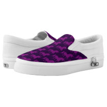 Trendy Stylish Dark Purple Unicorn Pattern Cute Slip-On Sneakers