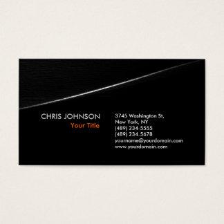 Trendy Stylish Grey Black Wave Business Card