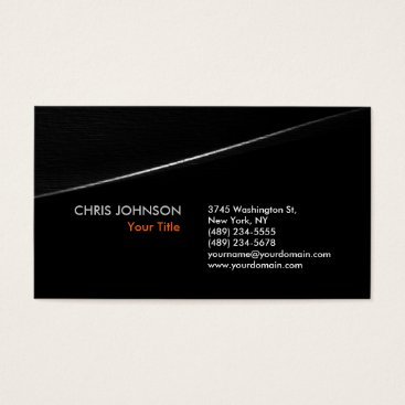Professional Business Trendy Stylish Grey Black Wave Business Card