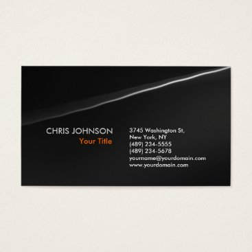 Professional Business Trendy Stylish Grey Wave Pattern Business Card
