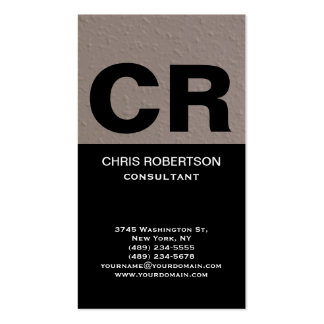 Trendy Stylish Huge Monogram Consultant Business Card
