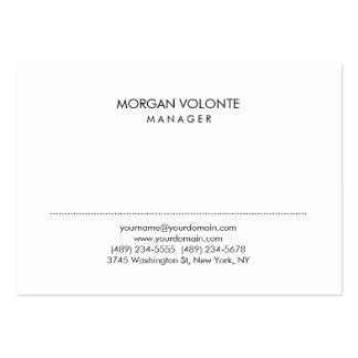 Trendy Stylish Minimalist White Professional Large Business Card