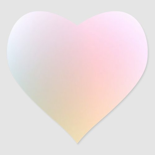 Trendy Stylish Modern Colorful Blank Template Heart Sticker