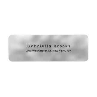 Trendy Stylish Modern Plain Elegant Unique Grey Label