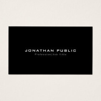 Trendy Stylish Modern Simple Design Luxury Plain Business Card
