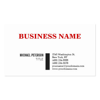 Trendy Stylish Red White Charming Business Card