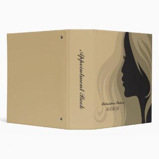 Trendy stylish salon spa appointment book binder