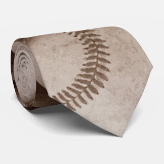 Trendy Stylish Sepia Vintage Baseball Artwork Tie